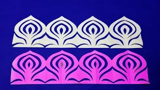 DIY Paper Border#How to make easy paper cutting Border design step by step -Easy craft