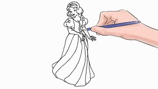 How to Draw Snow White Easy Step by Step