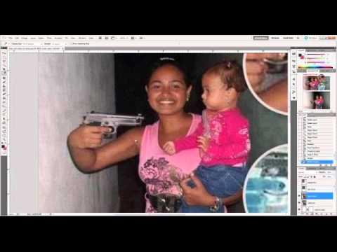 Sobre a mulher segurando arma com criança no colo - YouTube
