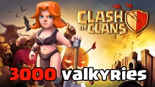 Clash of Clans - 3000 Valkyries Raid (Massive COC Gameplay)