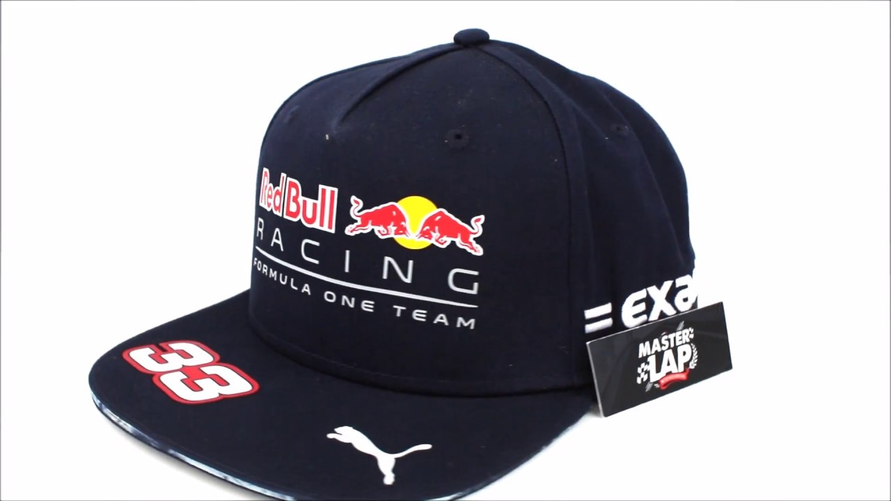 257fcd80372d3 Gorra Plana Red Bull Racing Oficial 2017 Max Verstappen - YouTube