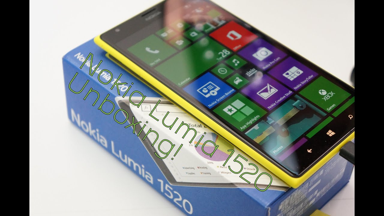 Nokia Lumia 1520 Unboxing And First Impressions Yellow Xl Mynokiablog Youtube