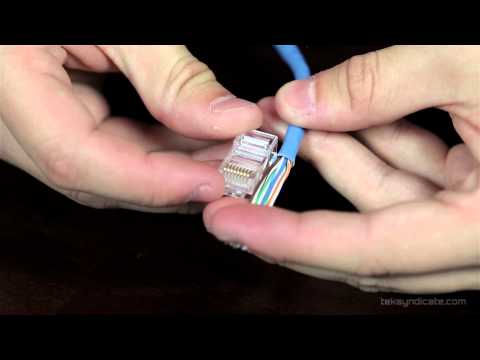 How To Make RJ45 Network Patch Cables - Cat 5E and Cat 6