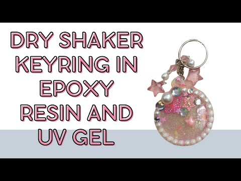 Watch me craft - dry shaker keyring in epoxy resin and UV gel