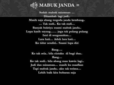 Mabok Janda & Lirik