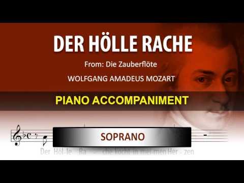 Der Hölle Rache / Karaoke piano / Wolfgang Amadeus Mozart / Soprano