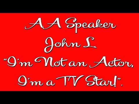 John L.  Famous AA Speaker  Alcoholics Anonymous Speaker