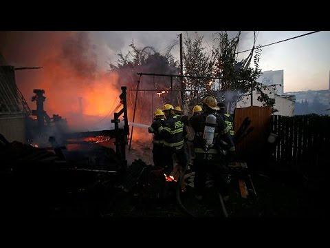 Fires rage around Israel - Pure Israel Aag Ki Lapait mein, Tabahi macha di - Urdu Videos