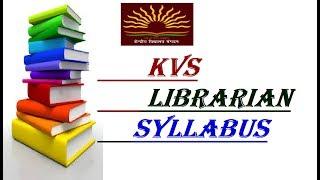 kvs librarian syllabus|| Syllabus of kvs none teaching  Librarian