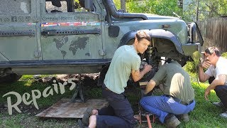 Repairing a Defender in Kyrgyzstan  (Ep76 GrizzlyNbear Overland)