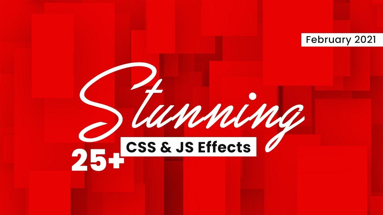 Stunning CSS & JavaScript Effects | Top CSS & JavaScript Animation