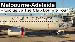 Good VIRGIN Australia 737 ECONOMY Class plus Melbourne THE CLUB Lounge Tour