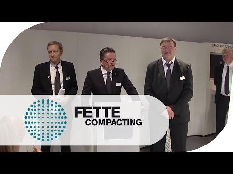 ACHEMA 2012: Press Conference   Fette Compacting