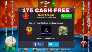8 Ball Pool - 1st in league 175 cash FREE / 3 Cues oppening / 2 cues upgrade to lvl 2 / HD + .!!
