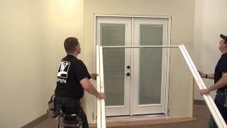 how to install a retractable screen