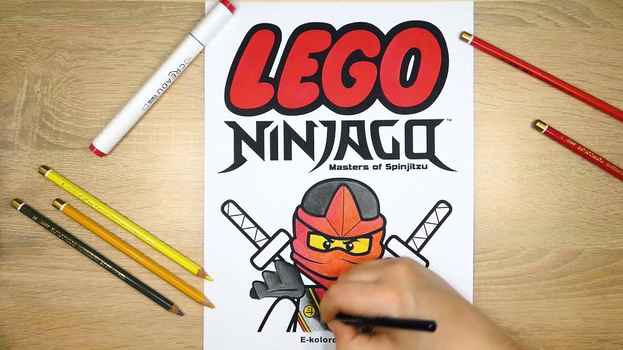 Lego Ninjago Kolorowanka Kolorowanie Youtube