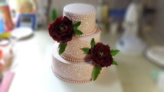 Свадебный торт с пионами / Wedding cake with peonies ( English Subtitles ) - Я - ТОРТодел!