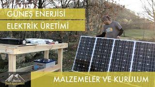 Güneş Enerjisi, Elektrik Üretimi, Malzemeler ve Kurulum