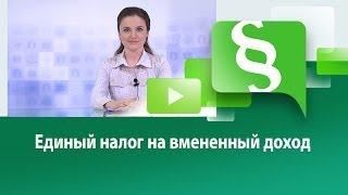 видео 59 Единый налог на вмененный доход для отдельных видов деятельности