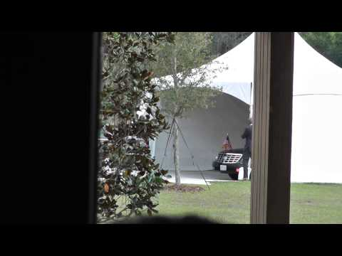 President Barack Obama leaving Valencia College West Campus, Orlando,FL