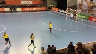 Zaalvoetbal Reigerboys voorwedstrijd Oranje