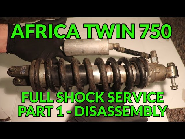 🔧 Africa Twin XRV 750 - Rear shock rebuild, part 1 - disassembly