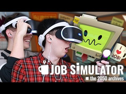 Dan and Phil GET REAL JOBS - Job Simulator VR!