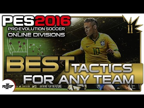 PES 2016 BEST FORMATION & TACTICS FOR ANY TEAM (Universal Tactics & Formations)
