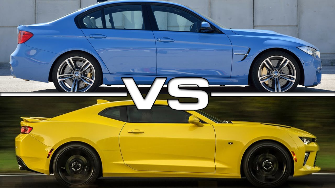 2016 bmw m3 vs 2016 chevrolet camaro ss - youtube