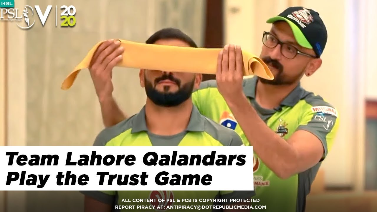 TRUST GAMES - Team Lahore Qalandars play the Trust Game | HBL PSL 2020