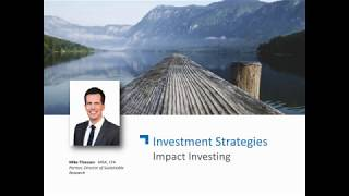 2019 Review and 2020 Outlook Genus Seminar in January, 2020 - Impact Investing
