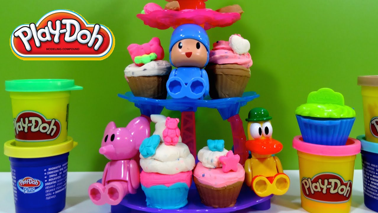 Cupcake And Play Tower Pocoyo Doh Figurines Ib7fyY6gv