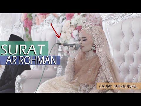Viral Semua Terdiam Pengantin Wanita Qori Nasional Neng Istiqomah