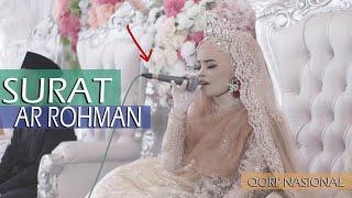 VIRAL, Semua terdiam,  pengantin wanita qori' Nasional neng Istiqomah