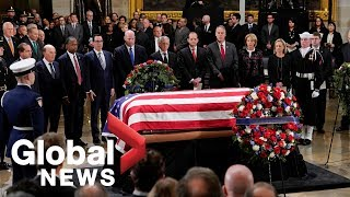 George H.W. Bush's casket arrives in Washington D.C.