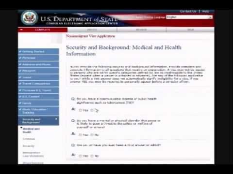 US VISA DS-160 FORM FILLING GUIDANCE - YouTube