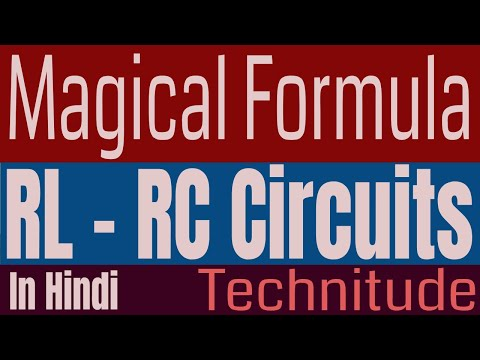 RL-RC circuits Magical formula for all GATE questions in HINDI