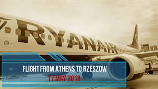 The first flight from Athens to Rzeszow 17 may 2018 Boeing 737-800