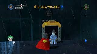 LEGO Batman 2 DC Super Heroes - Unlocking All Heroes in Gotham City South (Gold Doors)