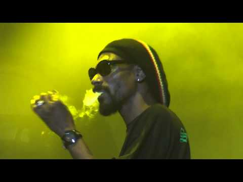 Snoop Lion Smoking Weed Aka Ganja on Stage Live Montreal 2012 HD 1080P