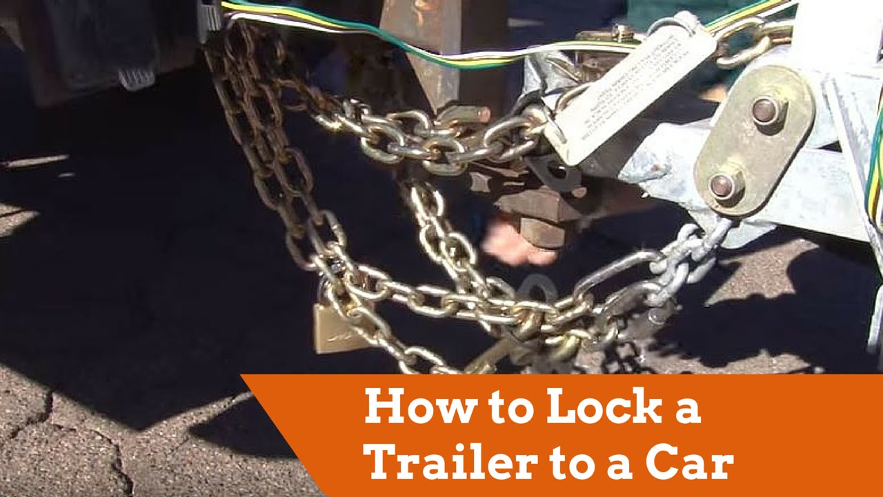 How to Lock a U-Haul Trailer to the Tow Vehicle