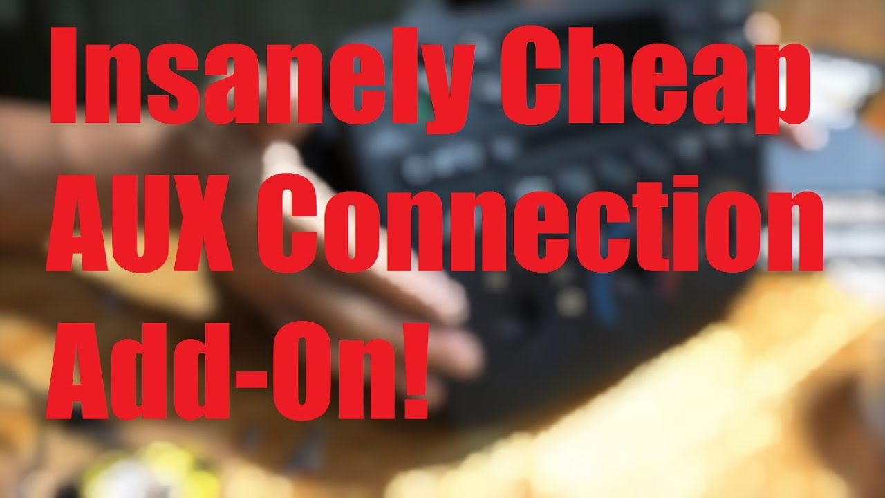 medium resolution of insanely cheap way 3 to add auxiliary connection ipod phone mp3 etc to your car