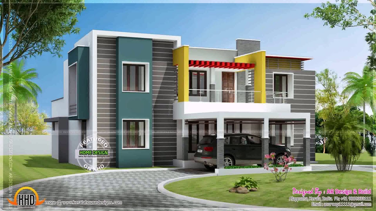 Double Story Home Elevation : Modern two storey house design with floor plan