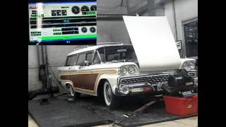 1959 Ford Country Squire 332cid Rear Wheel Dyno