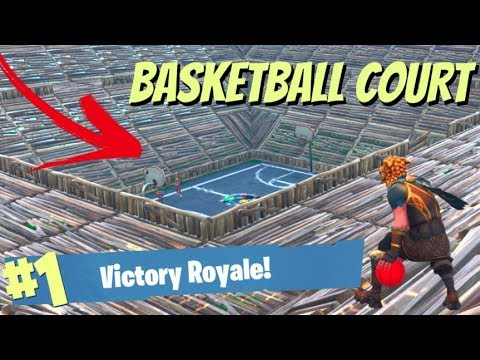 WE MADE A BASKETBALL COURT IN FORTNITE: BATTLE ROYALE!