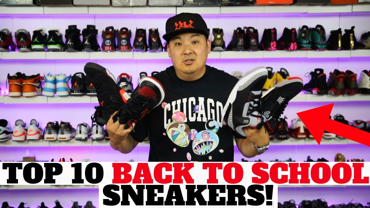 TOP 10 BACK TO SCHOOL SNEAKERS! - YouTube