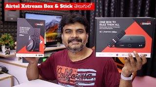 Airtel Xstream Smart Box & Xstream Stick Review ll in Telugu ll