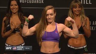 Lina Länsberg vs. Aspen Ladd - Weigh-in Face-Off - (UFC Fight Night: Cerrone vs. Till) - /r/WMMA
