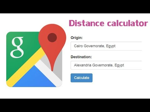 calculate distance between two points google maps - YouTube on