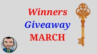 Giveaway Winners March | Low Budget Gaming